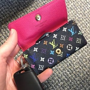 Louis Vuitton Multicolor Noir 4 key holder